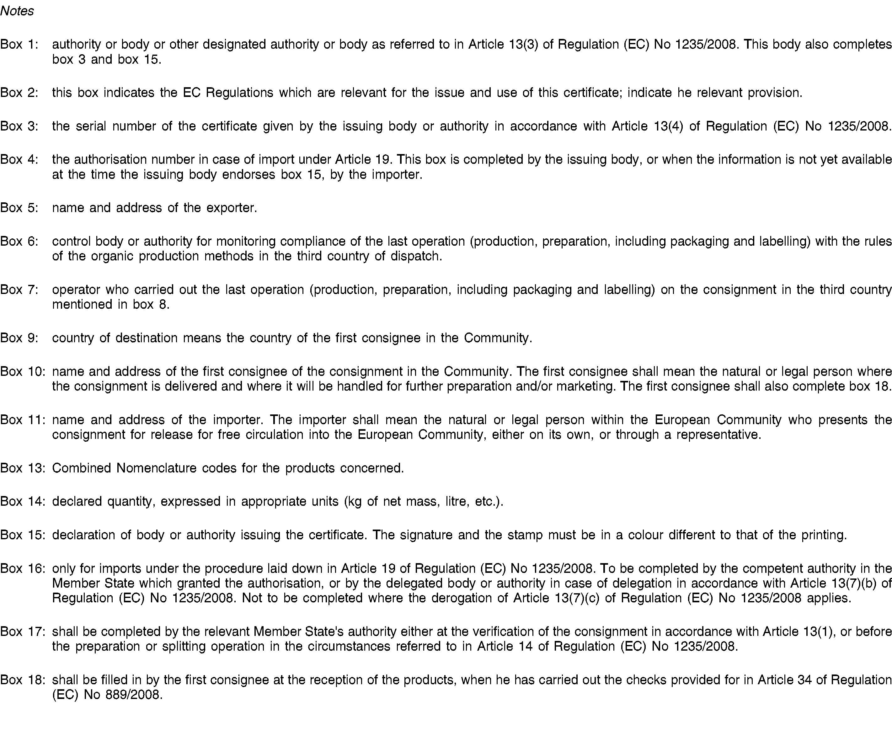 EURLex 02008R123520170105 EN EURLex – Consignment Legal Definition