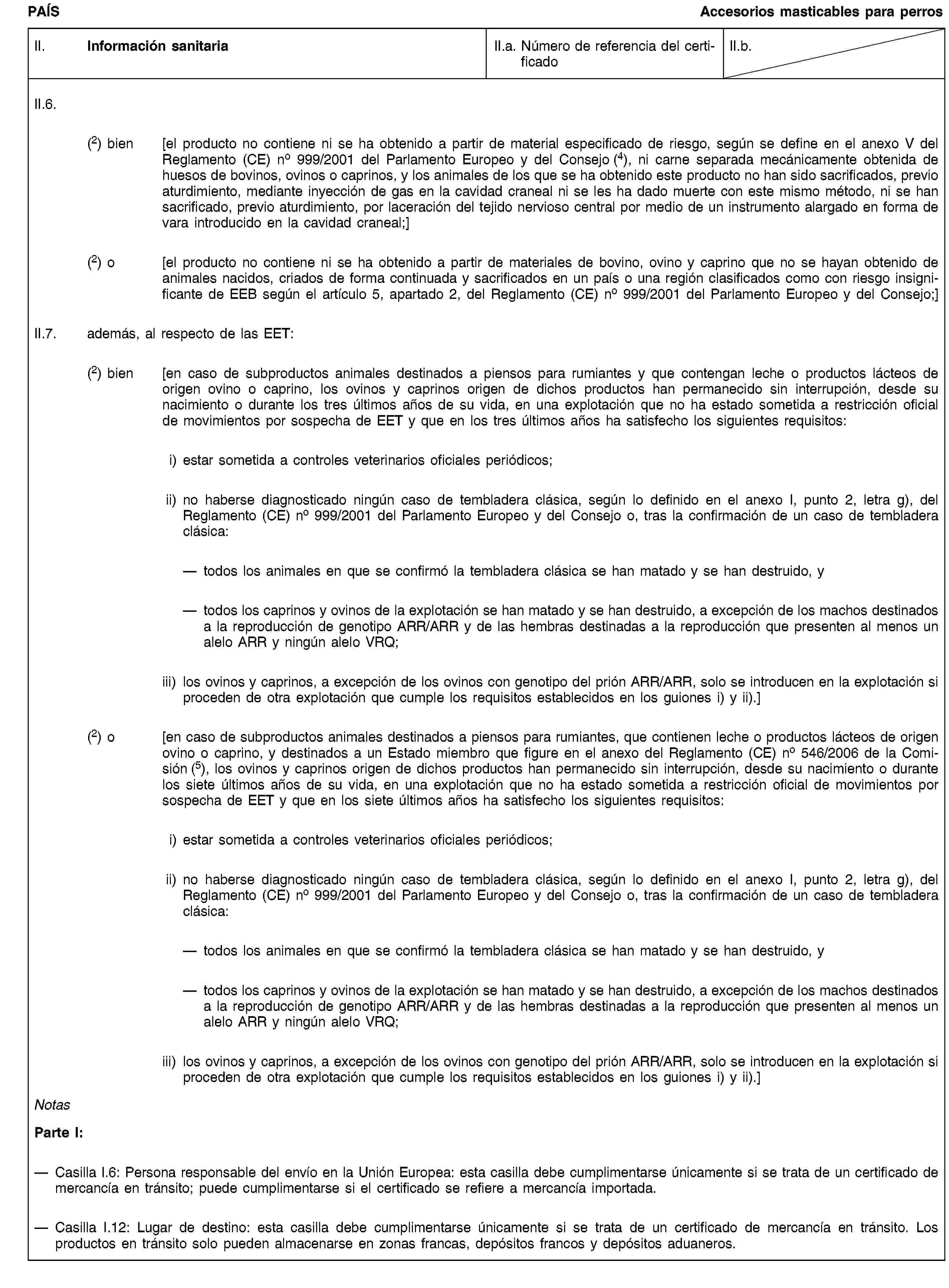 EUR-Lex - 02011R0142-20130315 - ES - EUR-Lex