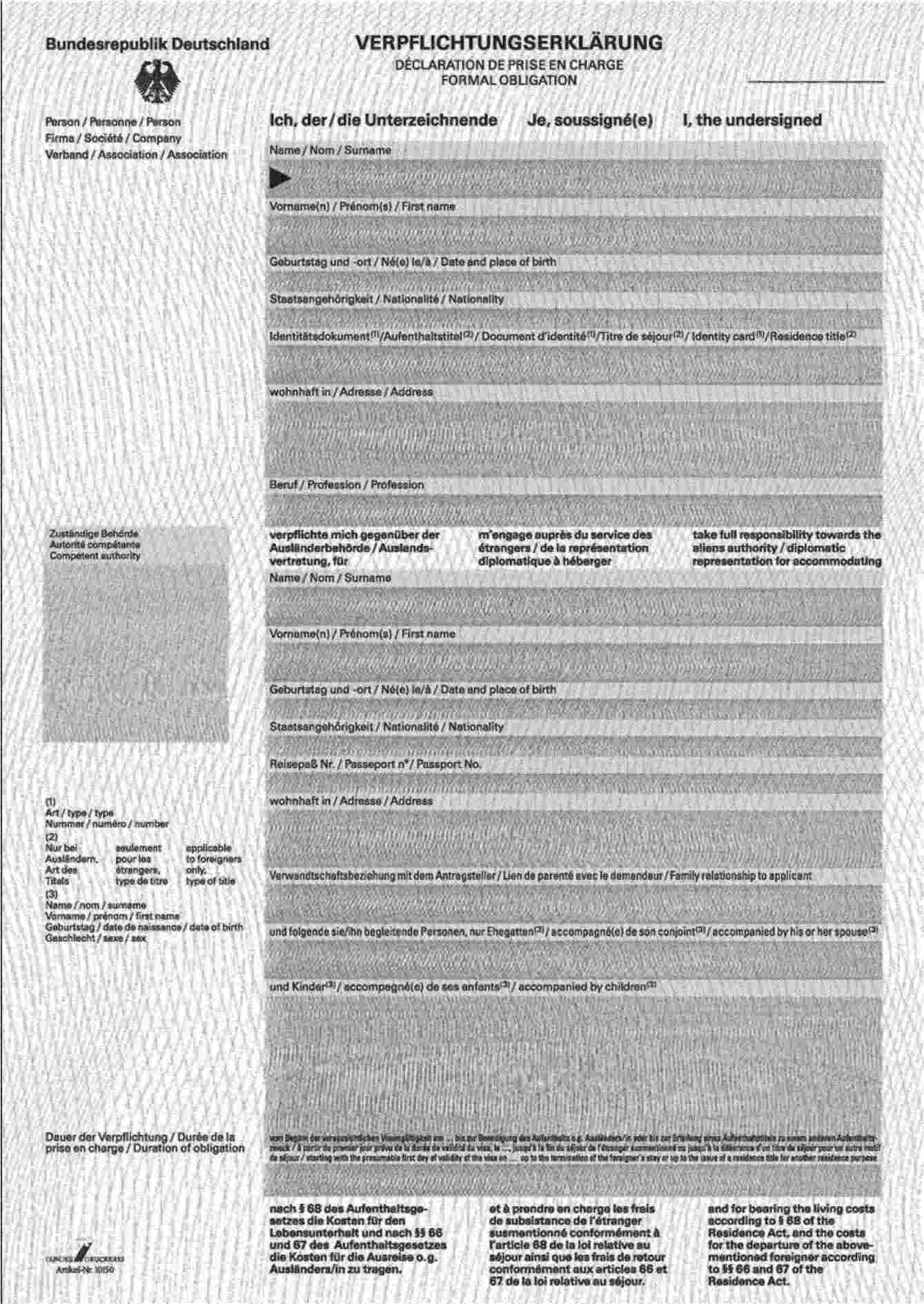 eur lex 52005xg122201 en eur lex - Verpflichtungserklarung Muster