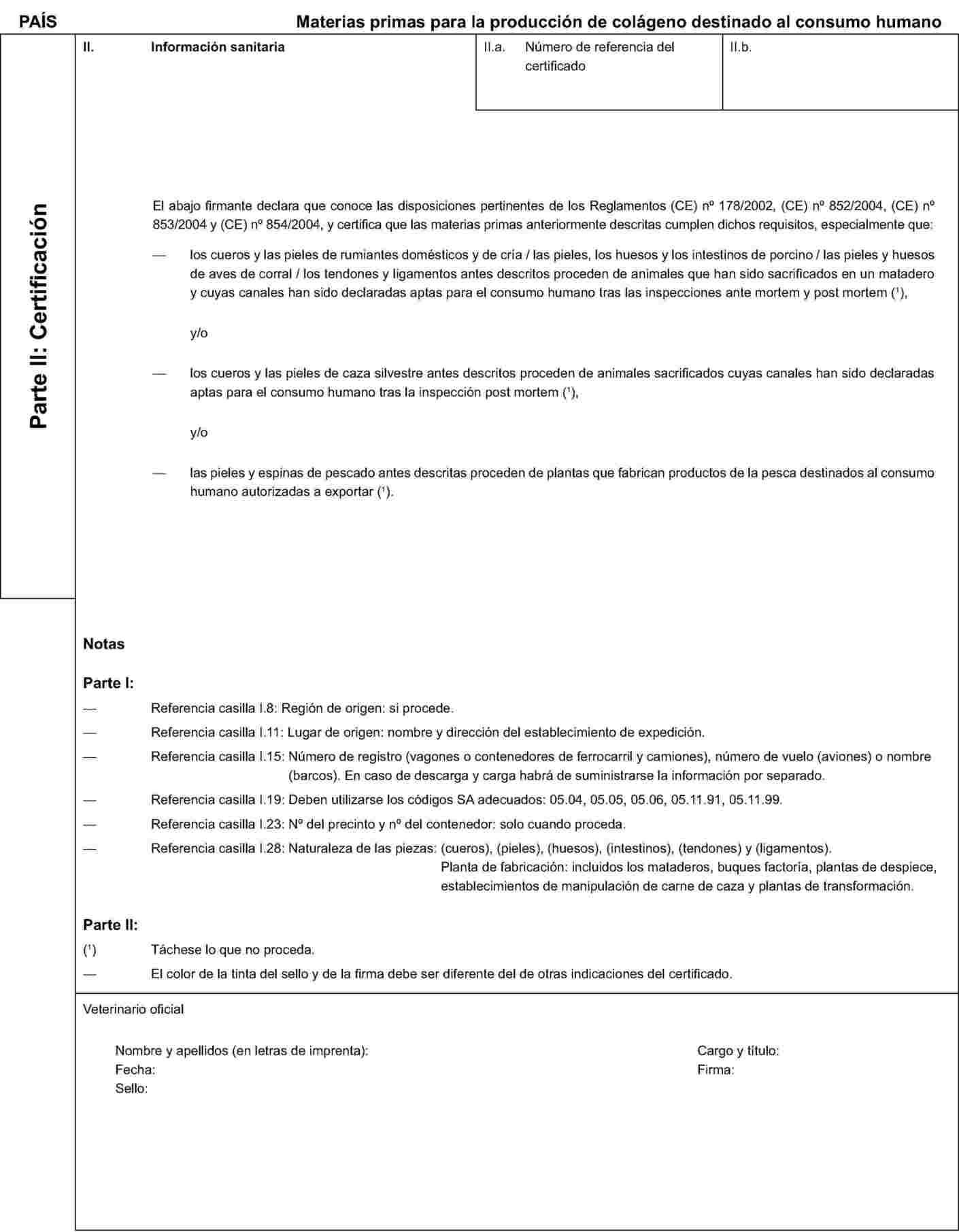 certificado sanitario eur lex 32006r1664 en eur lex