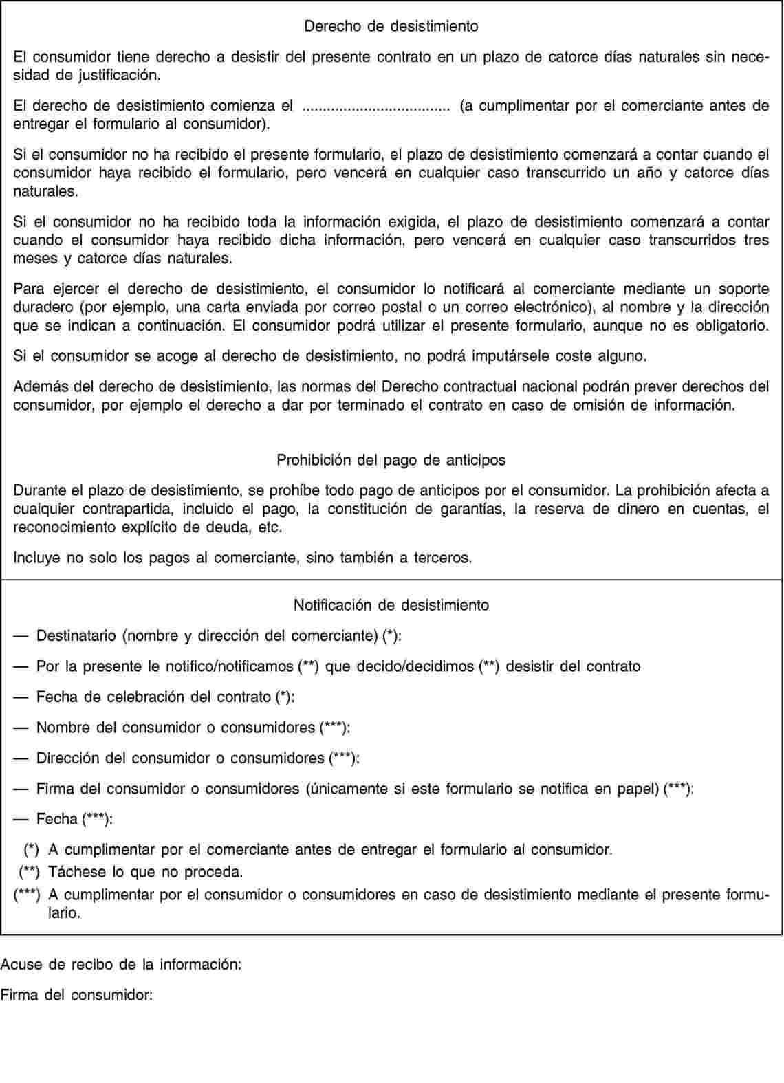 Eur lex 32008l0122 en eur lex for Formulario desistimiento