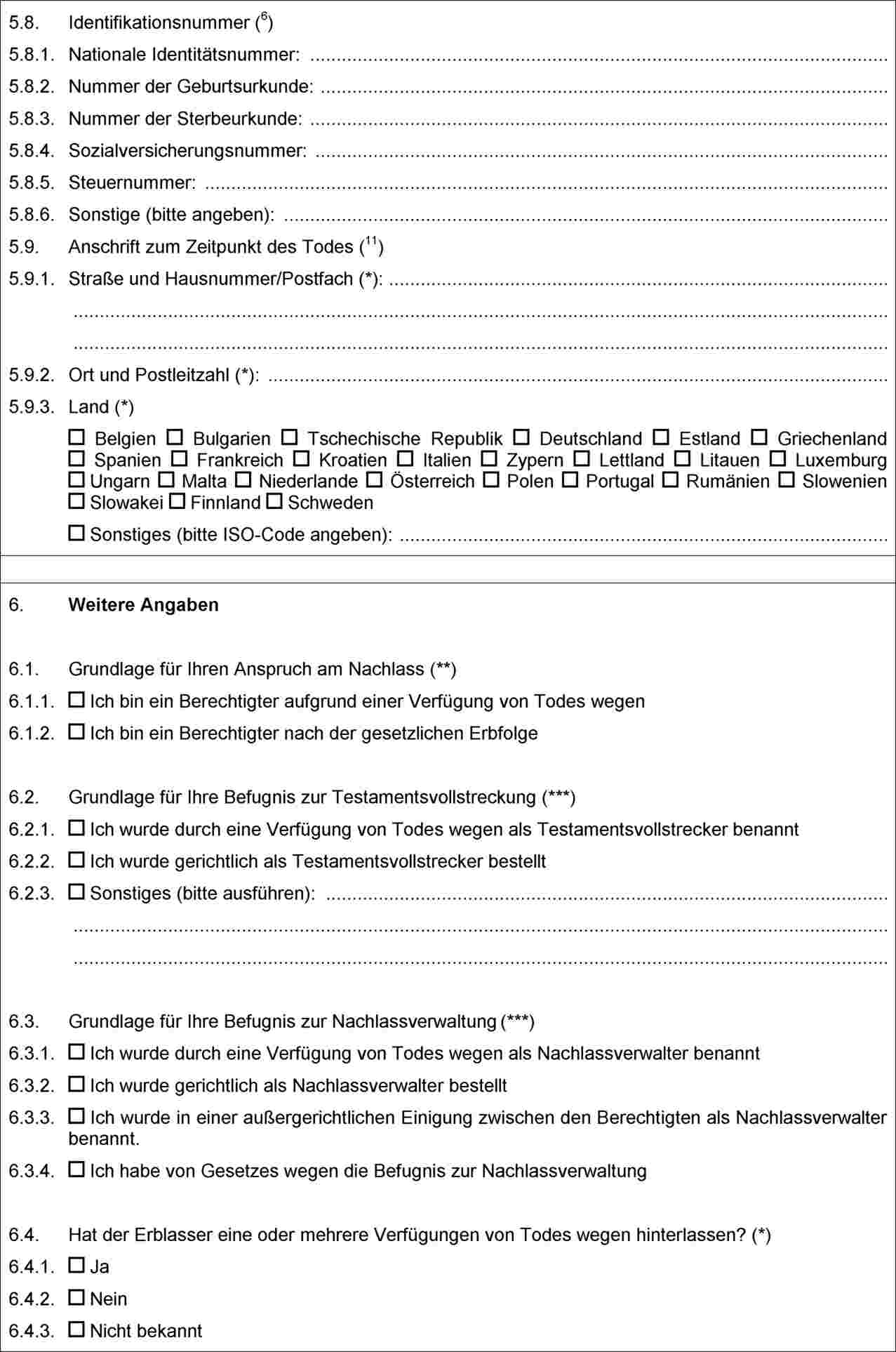 Niedlich Sterbeurkunde Vorlage Wort Fotos - Entry Level Resume ...